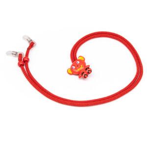Catenella fermaocchiali per bambini Fashion Cords CENTRO STYLE rosso-1